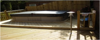 garden decking lighting in aylesbury